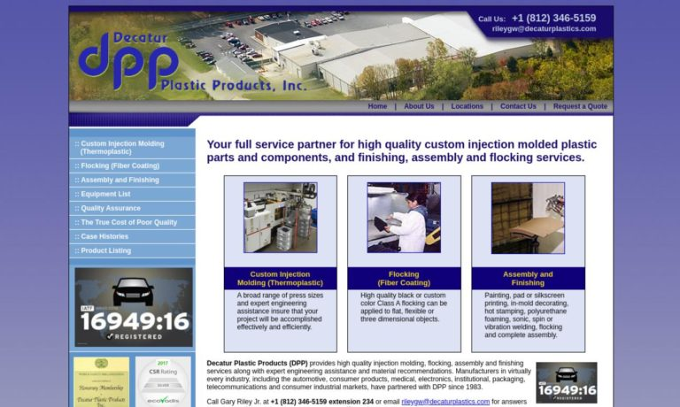 Decatur Plastic Products, Inc.