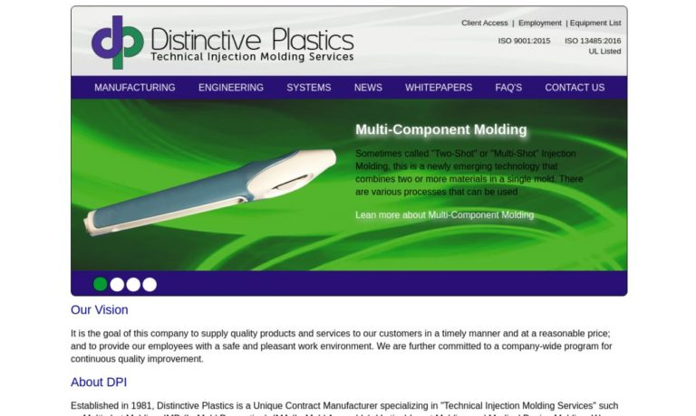 Distinctive Plastics Inc.