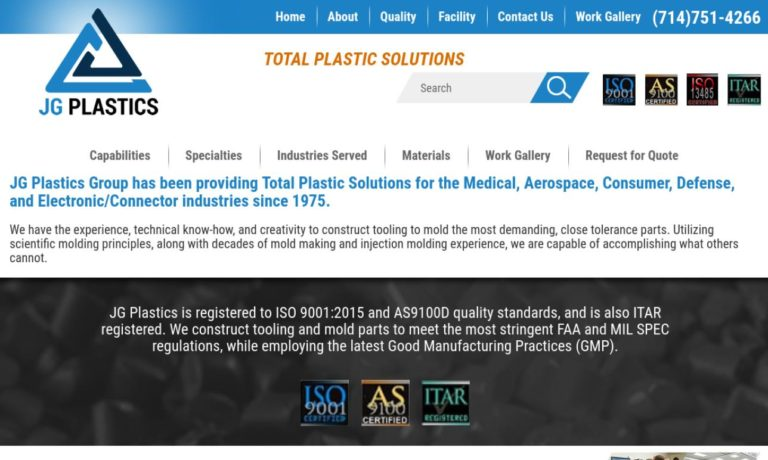 J.G. Plastics Group, Inc.